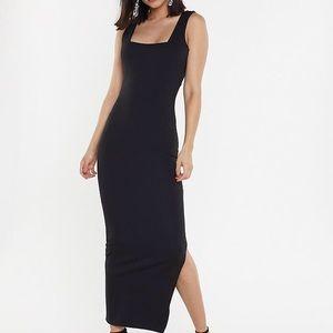 Nasty Gal Black Midi Dress